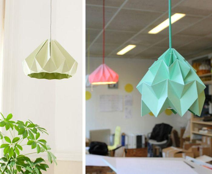 1001+ projets diy super cool pour fabriquer un luminaire origami (avec images) | Luminaire, Diy ...