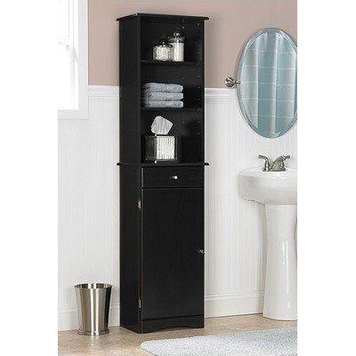 Ameriwood Bathroom Storage Cabinet By, Black Bathroom Storage Cabinet