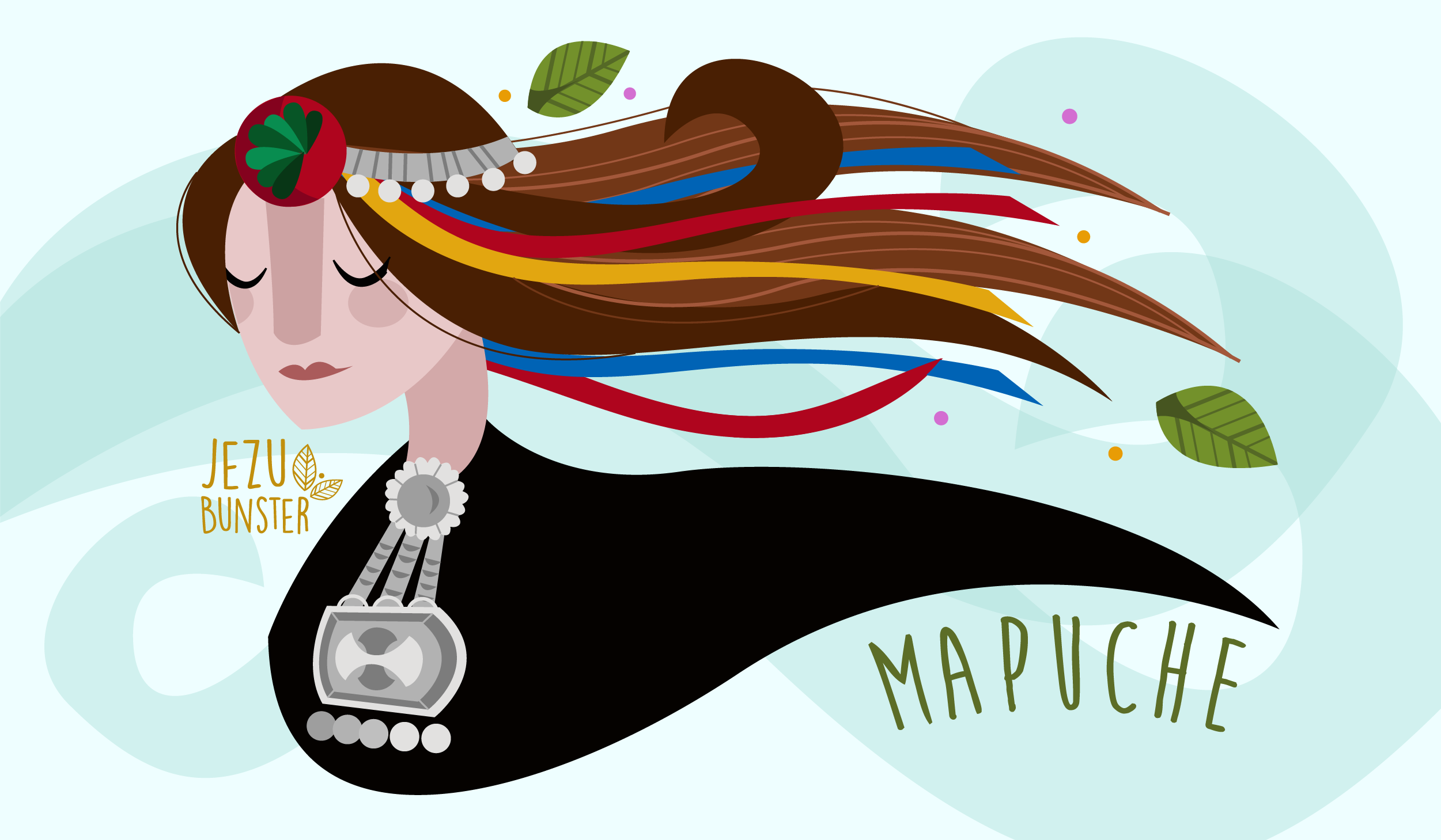 Indigenous Woman Collection Mapuche Mujer Mapuche Arte Mapuche Bandera Mapuche