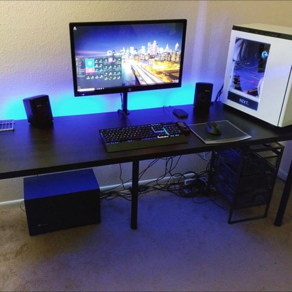 For sale full gaming setup for 315 my favorite electronics to buy pinterest - Bureau gamer ikea ...
