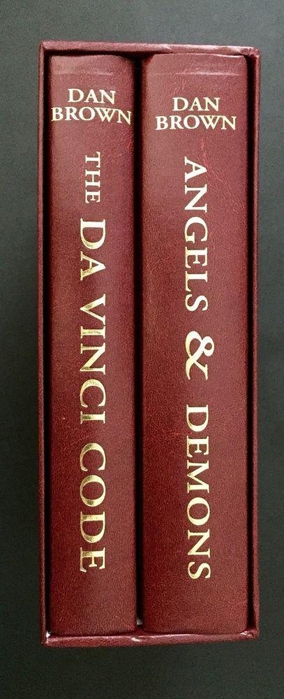 The Da Vinci Code Angels And Demons Dan Brown Boxed Set Hardcover Books