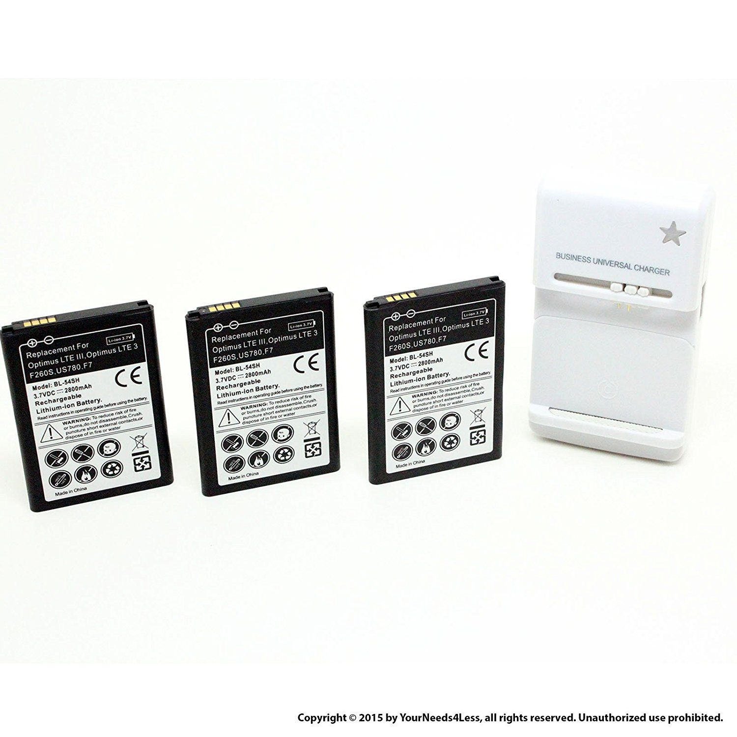 Yn4l 3 X 2800mah Replacement Batteries For Lg F7 Batterypacks Cell Phone Battery Battery Charger