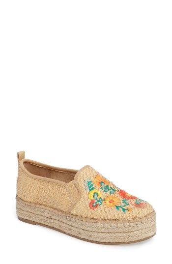 7480ccdde0d5 Free shipping and returns on Sam Edelman Carrin Embroidered Sneaker (Women)  at Nordstrom.com. An espadrille platform brings summer-chic style to a  woven ...