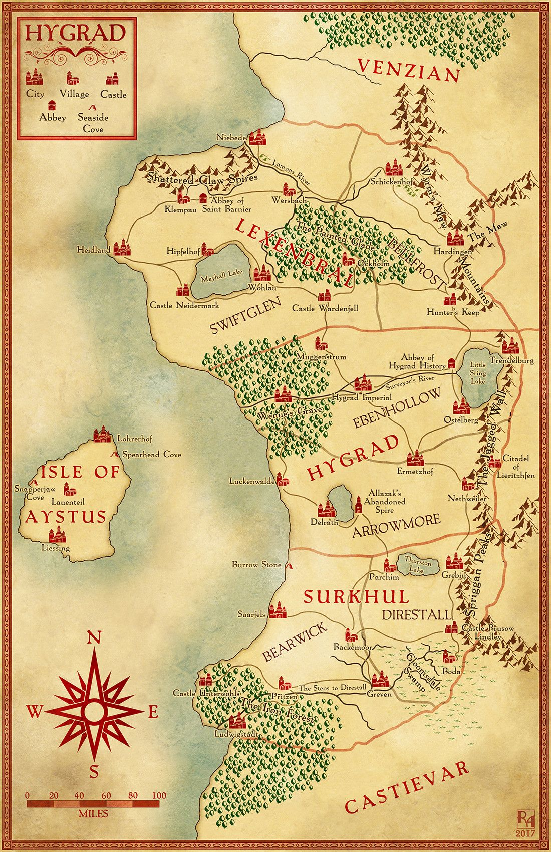 ArtStation Hygrad Robert Altbauer Fantasy RPG Maps