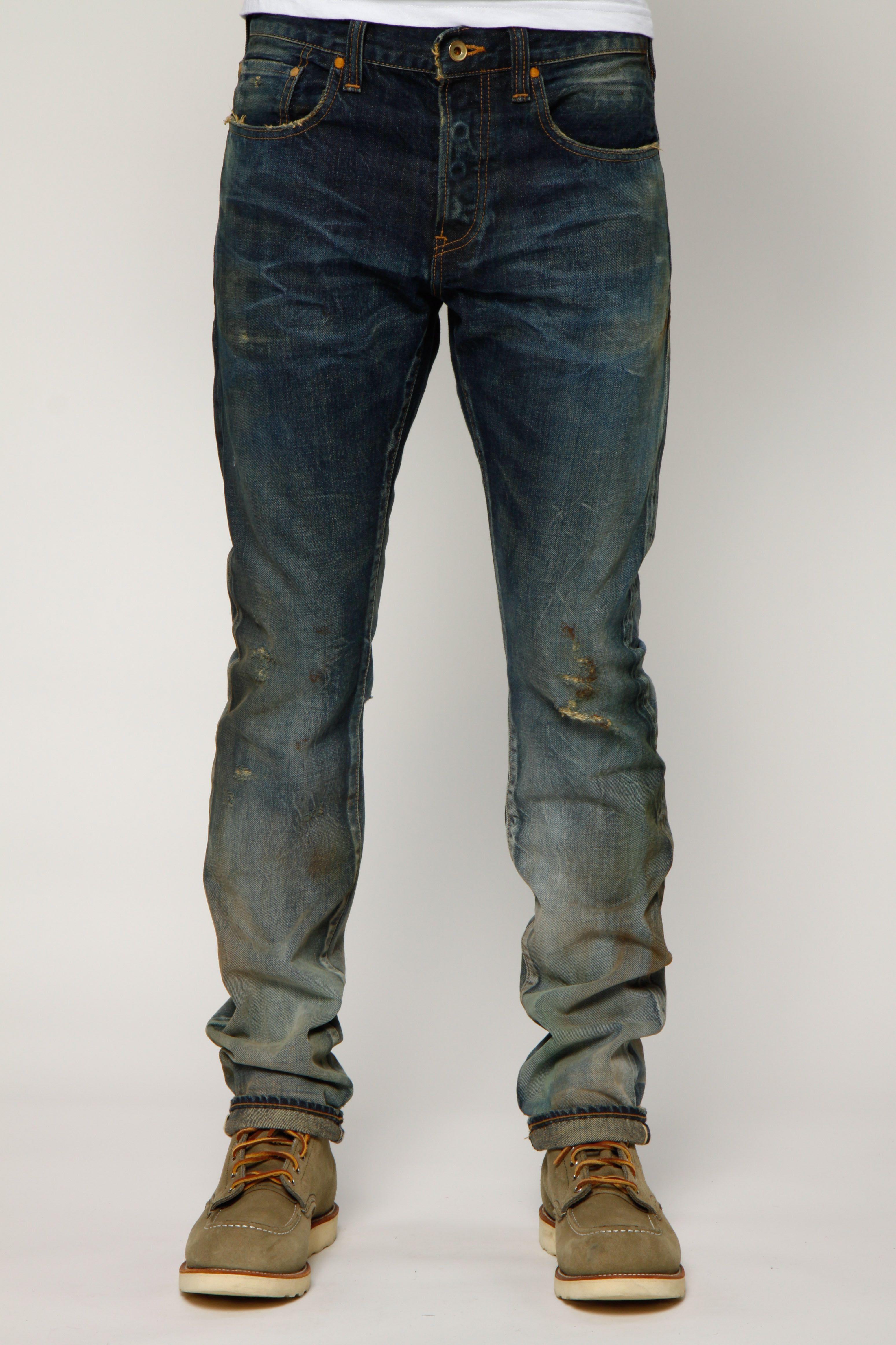 Dark Indigo Men's Designer Straight Fit Jeans | PRPS