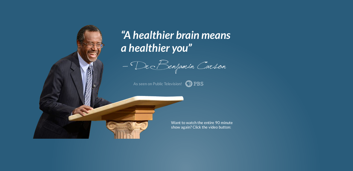 The Missing Link With Dr Ben Carson The Science Of Brain Health Studies Have Shown That A Missing Link Could Very W Health Brain Health Health And Wellness
