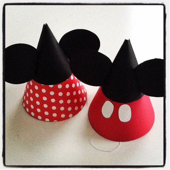 Mickey OR Minnie Mouse Party Hats Letu0027s Party! Pinterest - Party Hat Template