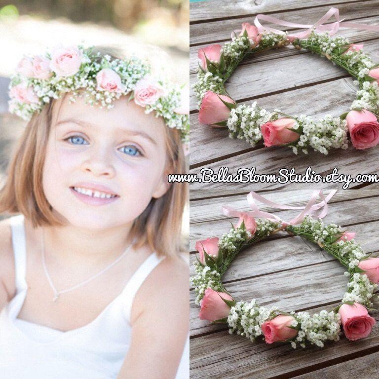 Fresh Flower Crowns Flower Girl Wreath Crown Baby Breath Headpiece Baby Breath Flower Crown Wedding Diy Flower Crown Wedding Flower Girl Wreaths