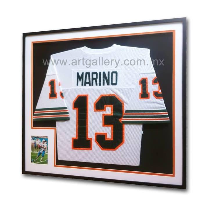 Football Jersey - Dan Marino - Miami Dolphins Enmarcado por www ...