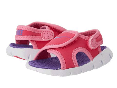 0bdfd0aba9a7 Nike Kids Sunray Adjust 4 (Infant Toddler) Pink Glow Vivid Pink White Purple  Venom - 6pm.com