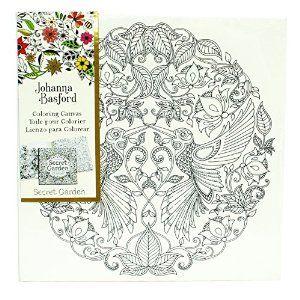 Amazon Johanna Basford Secret Garden Coloring Canvas