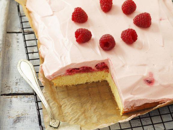 Kuchen mit Himbeercreme Rezept Blechkuchen, Eat smarter und Lecker - leichte und schnelle küche