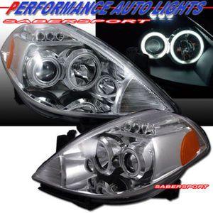 2007 2009 Nissan Versa Projector Headlights Ccfl Halo Nissan Versa Nissan Projector Headlights