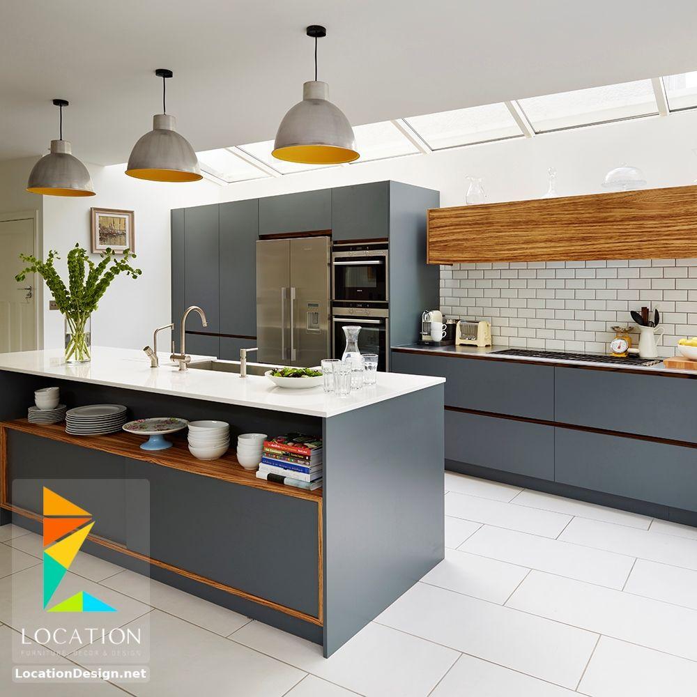 صور مطابخ حديثه و اشكال مطابخ مودرن و مميزه لوكشين ديزين نت Grey Kitchen Designs Kitchen Design Laminate Kitchen
