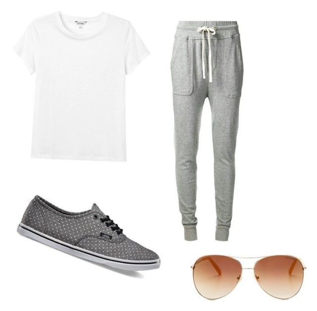 """""""LaZy day"""" by karrianna ❤ liked on Polyvore featuring moda, James Perse, Monki, Vans y Tommy Hilfiger"""
