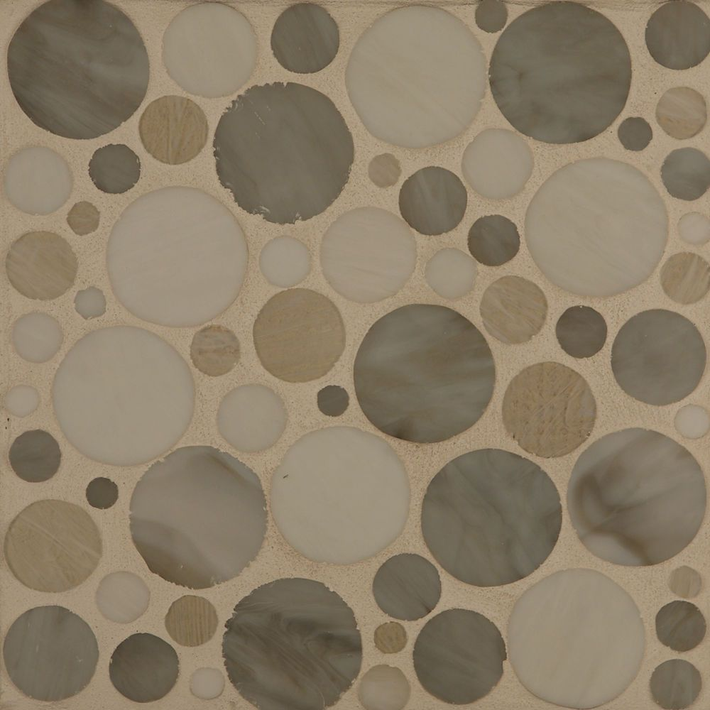 Bubblicious Glass Tile For The Kitchen Back Splash From