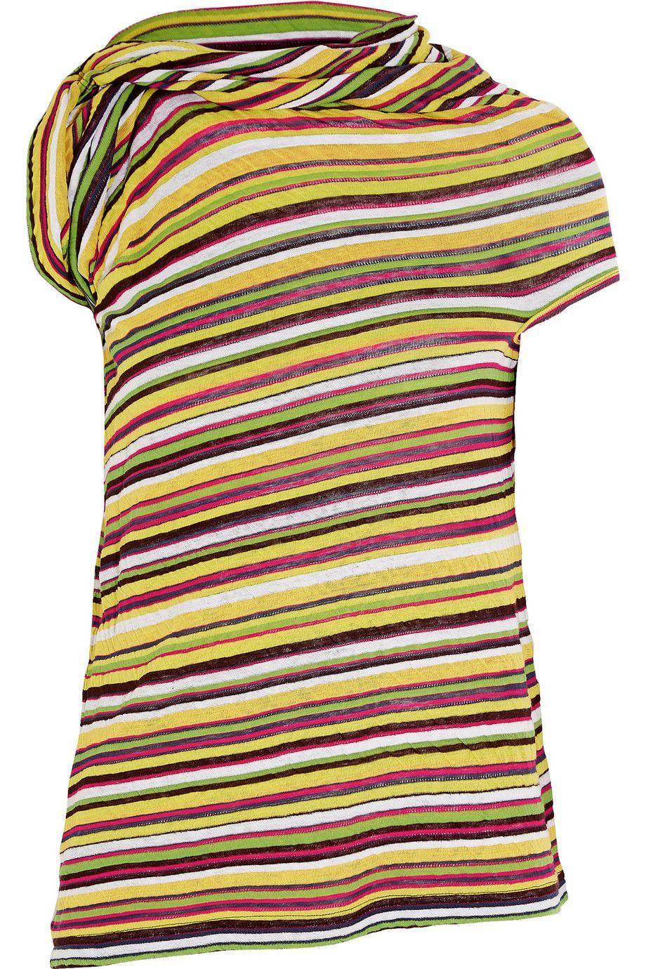 Junya Watanabe | Striped cotton-jersey top | NET-A-PORTER.COM