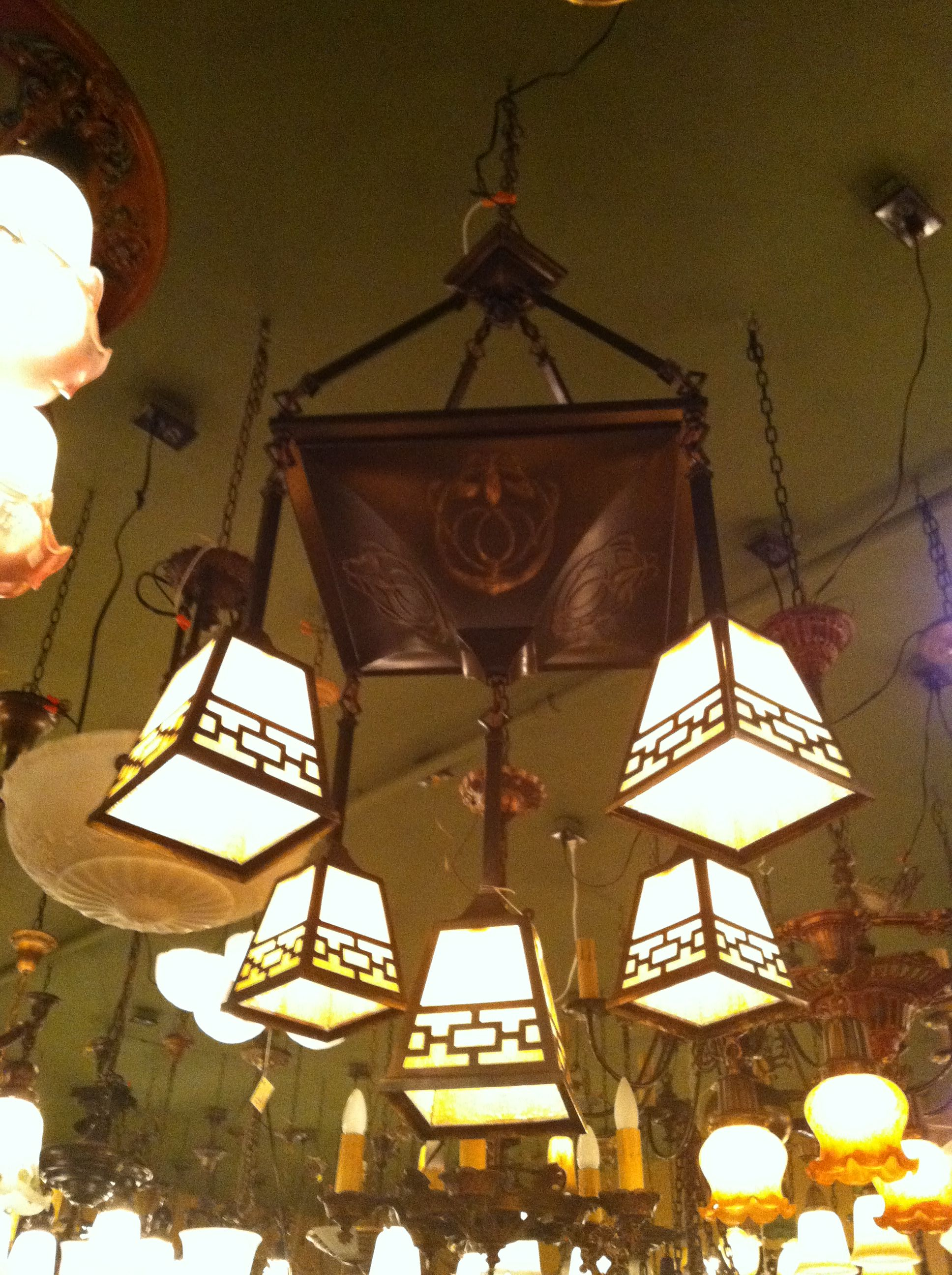 Dining table chandelier from spokane washingtons revival lighting store