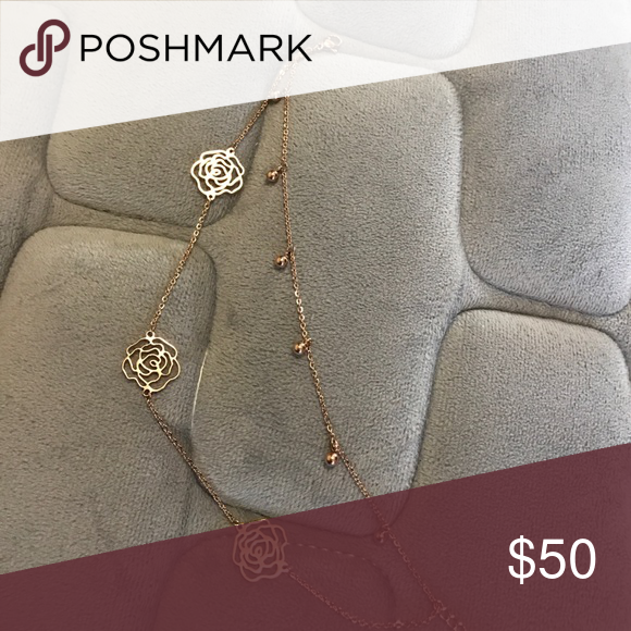 Jewelry Put this around your feet:) it's beautiful! Authentic planted rose gold with coco flower 🌺 design ! Or for who has bigger wrist, also can be a bracelet:) no brand Jewelry Bracelets