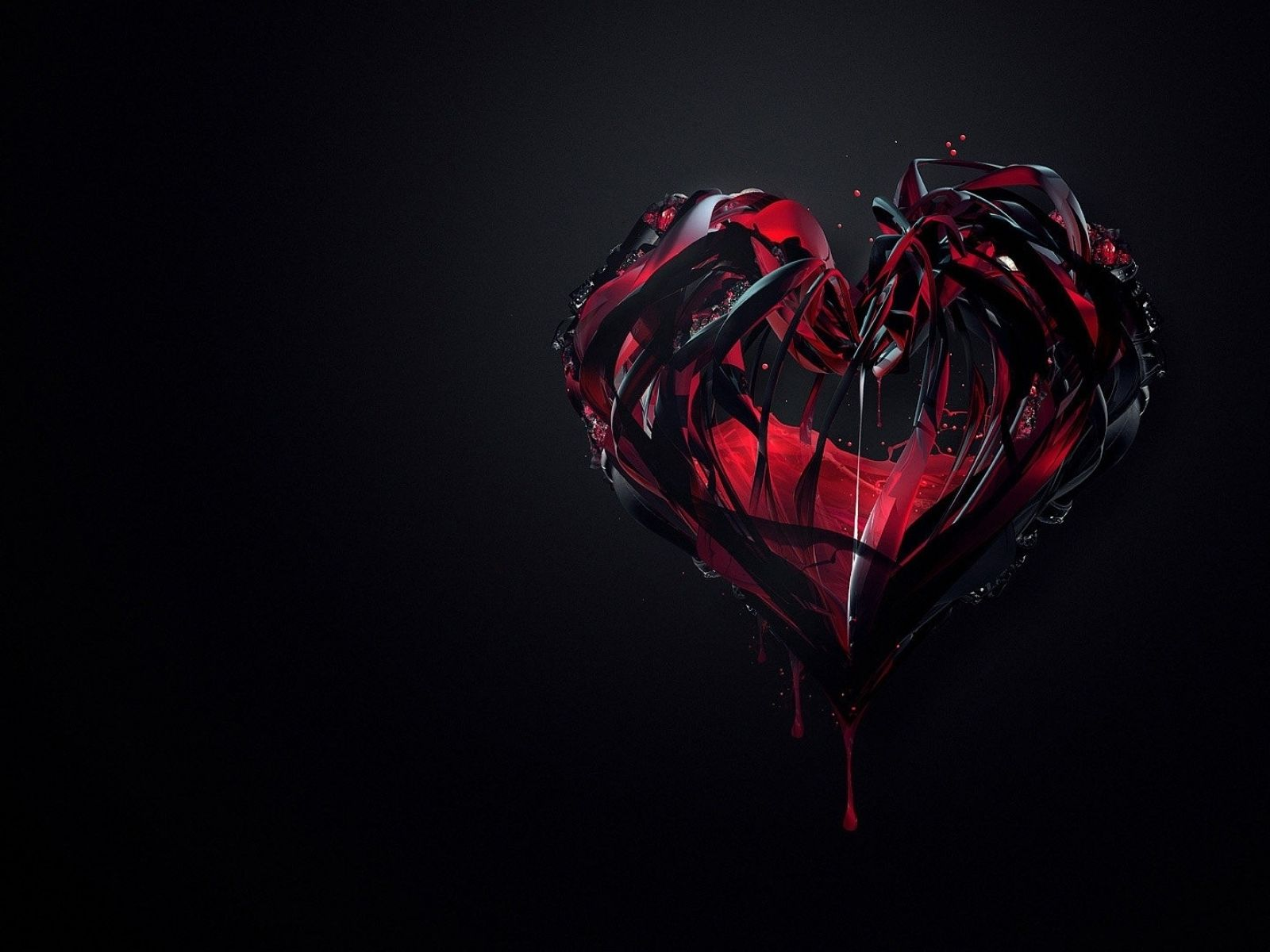 Black Roses With Blood Black Red Blood Drops Artwork Hearts Black