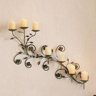 Perfect Wall Hanging Candle Holders With Wrought Iron