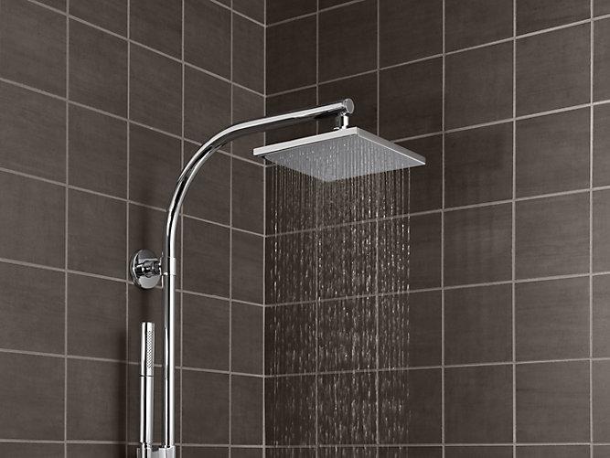 K 13695 8 Inch Contemporary Square Rain Showerhead 2 5 Gpm