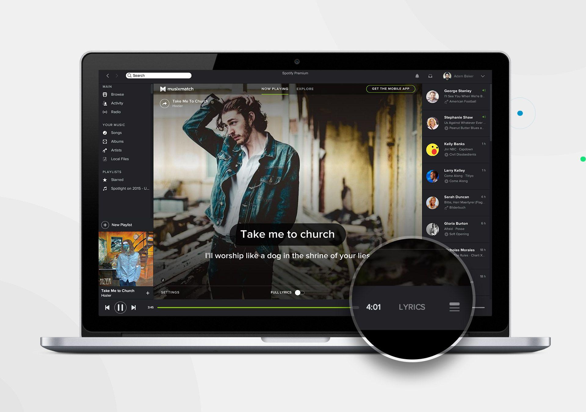 Spotify Desktop Update Adds Full Lyrics from MusixMatch