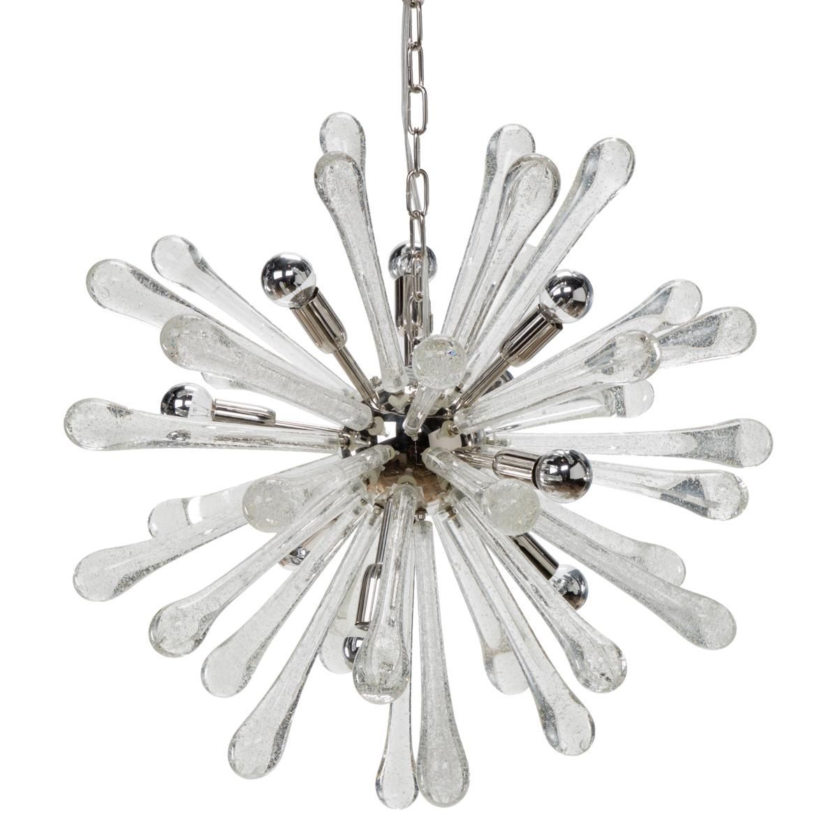 murano glass starburst chandelier 39 murano style glass droplets explode from a center ball with - Starburst Chandelier