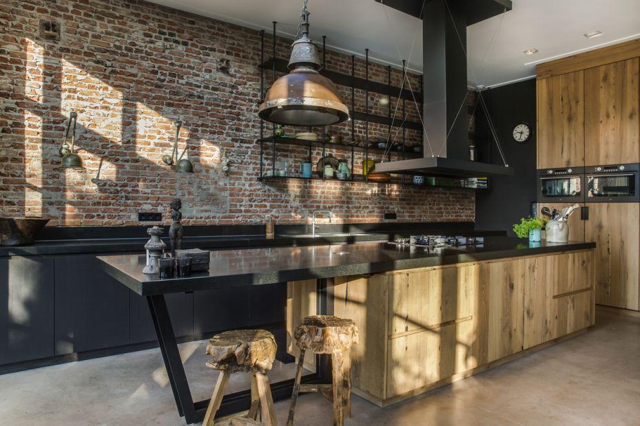 Kleine industriele keuken stoere industrile keuken pobiusa