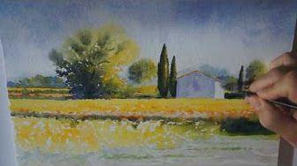 Aquarelle Watercolor D Un Cabanon Provencal True Painting