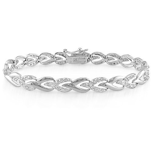 55 Off Was 420 00 Now Is 190 58 1 Carat Diamond Bracelet In Sterling Silver J K I3 7 Free Shipping Accesorios
