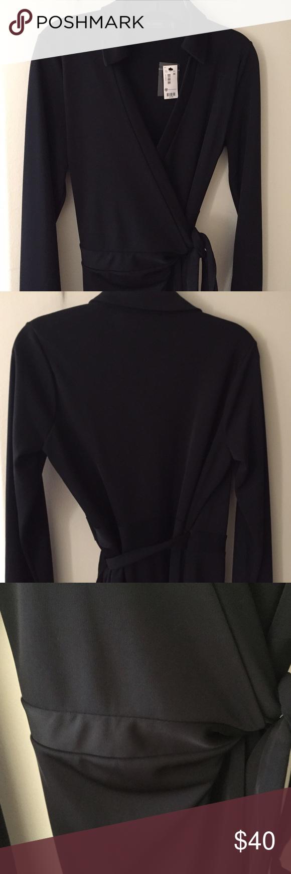 Nwt limited black wrap dress u sz m nwt my posh closet pinterest