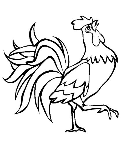 Rooster Coloring Pages Farm Coloring Pages Farm Animal Coloring