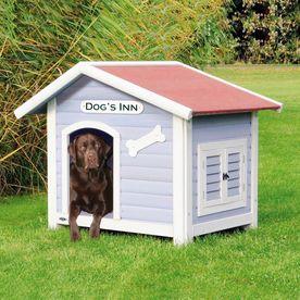Shop Trixie Pet Products 3 041 Ft X 2 937 Ft X 3 5 Ft Wood Dog House At Lowes Com Weatherproof Dog House Wood Dog House Dog House