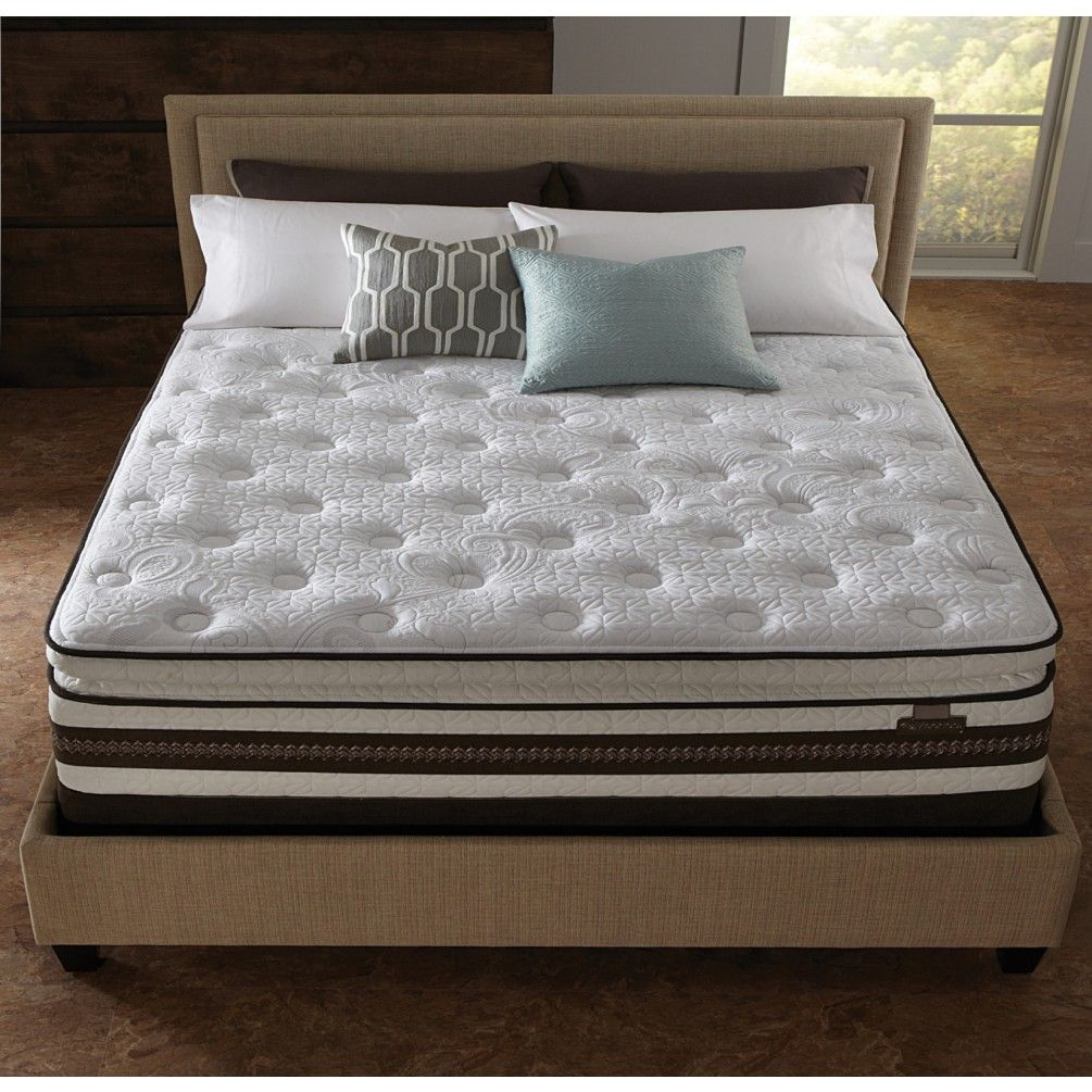 Rest Easy And Sleep Well In The Serta Iseries Honoree Super Pillowtop Mattress Allow Pillowsoft Foam Everfeel Technology Cool Action Dual