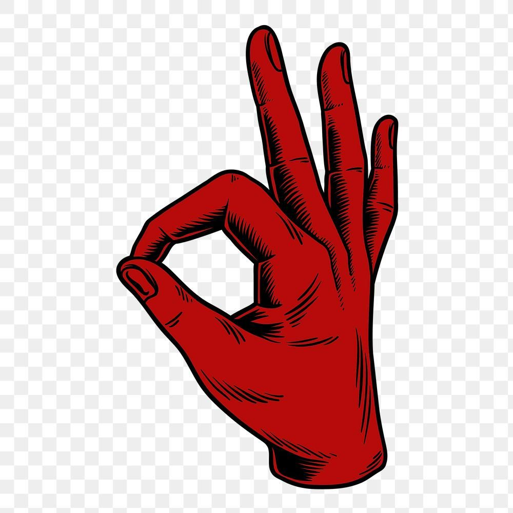 Red Okay Hand Sign Language Design Element Free Image By Rawpixel Com Tvzsu Hand Sign Language Design Element Free Illustrations