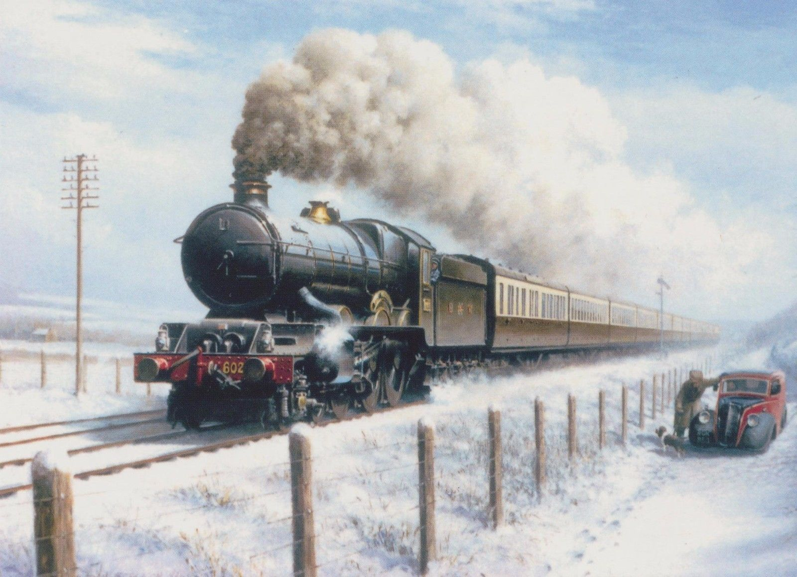 Details about gwr king class railway engine steam