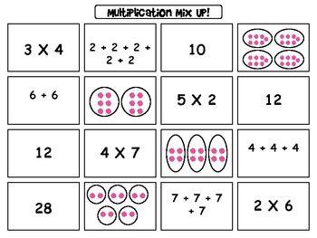 multiplication mix up sort freebie multiplication division models and basic facts. Black Bedroom Furniture Sets. Home Design Ideas