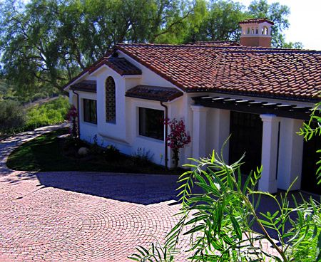 Spanish home driveway designs and materials photos | gardens ...