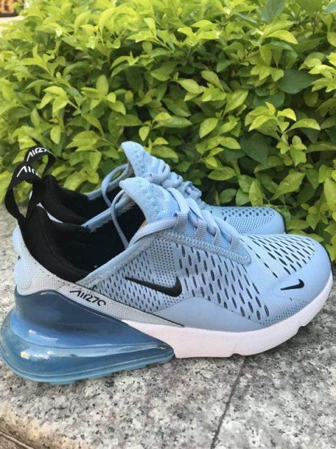 Womens Winter Nike Air Max 270 Casual Sneakers Sky blue white 13