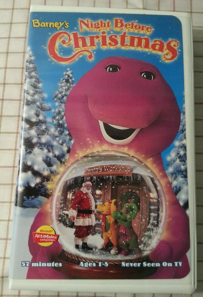 Barney\'s Night Before Christmas (VHS, 1999) in DVDs & Movies, VHS ...