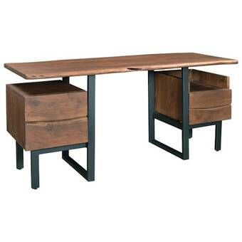 Kirchoff 4 Drawer Executive Desk In 2020 Solid Wood Desk
