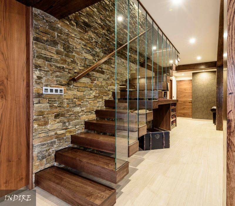 10 modernas ideas con piedra para las paredes interiores (De Bárbara - Diseo De Escaleras Interiores
