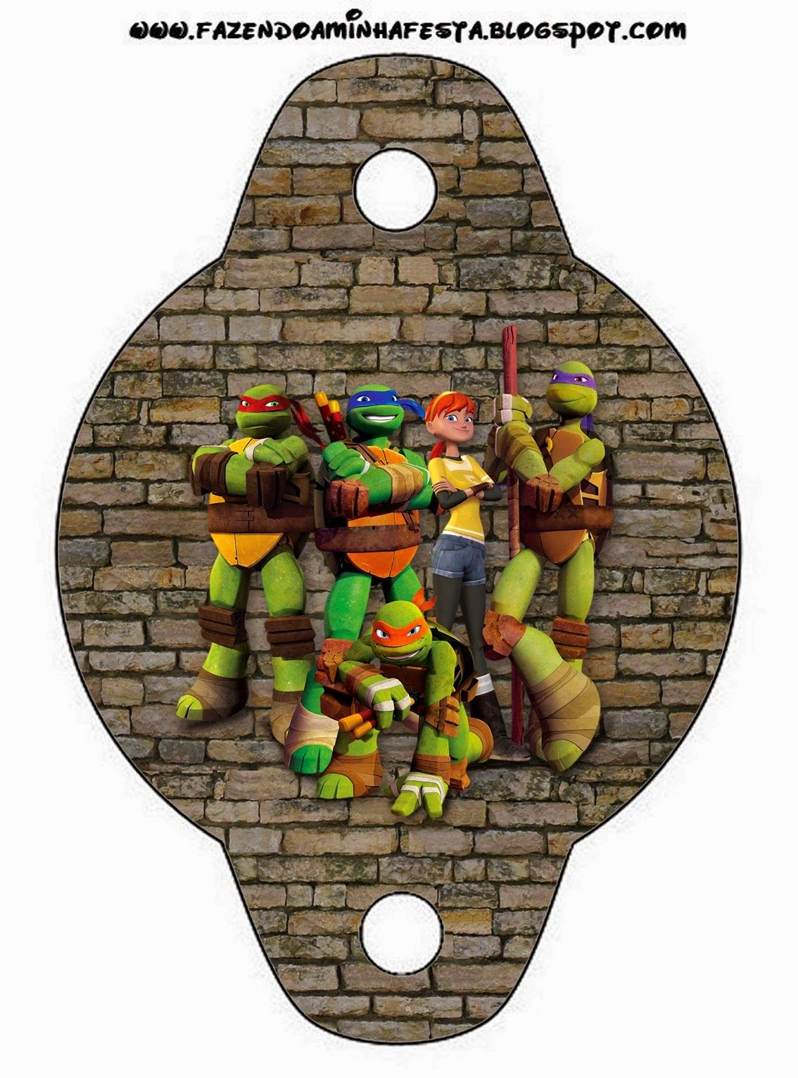 Ninja Turtles Free Party Printables and Invitations. | Ninja Turtle ...
