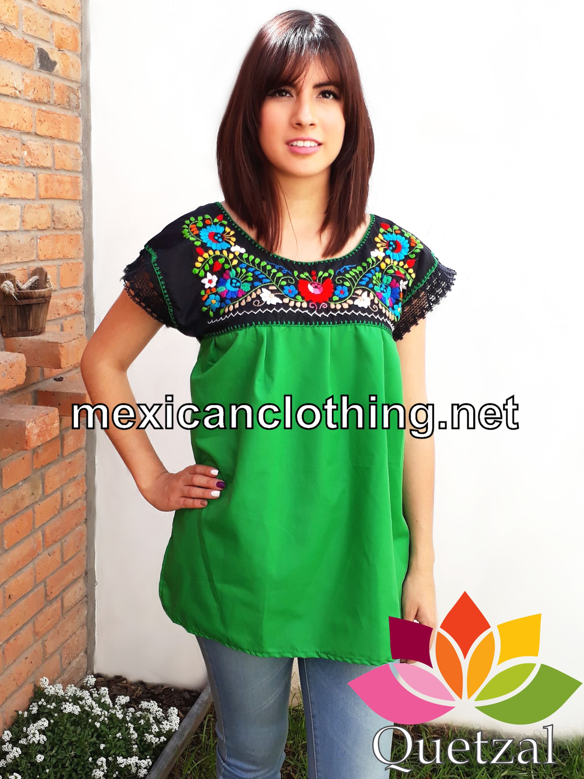 Traditional Mexican Womens Blouse Anlis