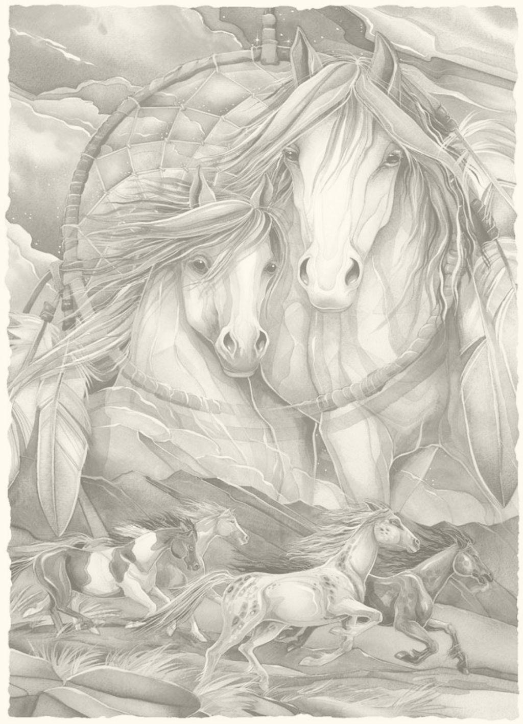 Alle Zwart Wit Platen Zijn Goed Uit De Printen Op 13 18 Cm Paard Tekeningen Paard Kunst Dieren Kleurplaten