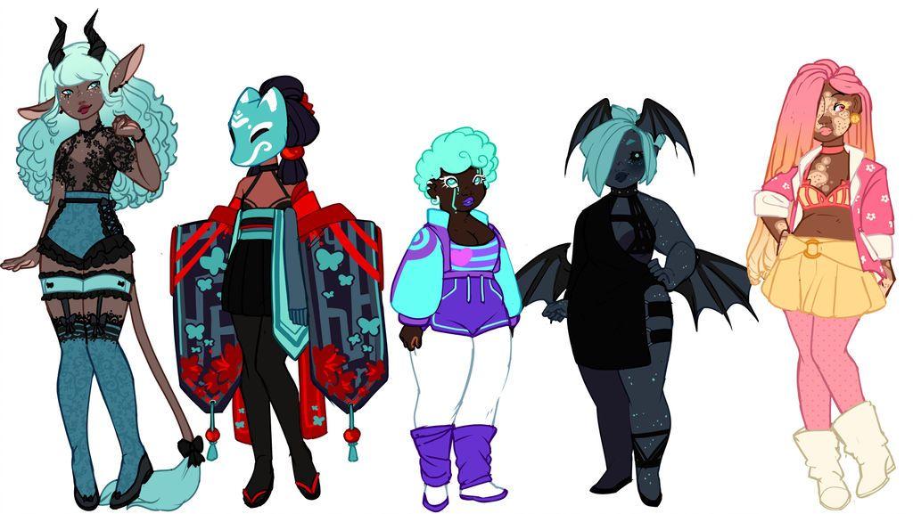 Original Adopts [OPEN] by Death2Eden Character design