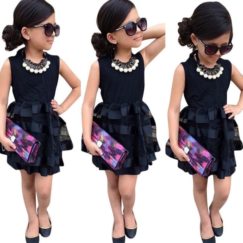 99de4006581b7 Sotida Girls Black Wedding /Party Mesh Dress   Fashion Trends ...