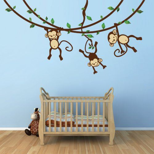 Monkey Wall Decal For Baby Nursery Or Kid S Room