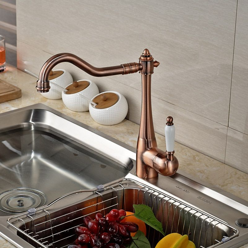 $55.20 | Buy Good Quality Single Handle Brass One Hole Kitchen Sink ...